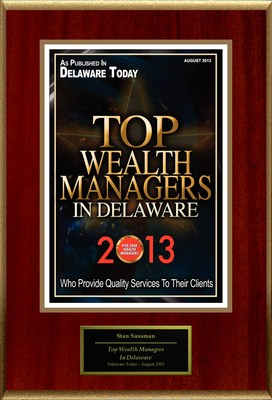 "Stan Sussman Selected For ""Top Wealth Managers In Delaware"" (PRNewsFoto/American Registry)"