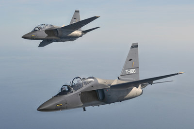 Two T-100's in formation flight