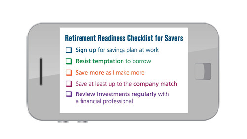 Retirement Readiness Checklist for Savers.  (PRNewsFoto/Lincoln Financial Group)