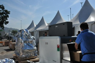Security scanners from Nuctech are being installed and debugged at the Rio venues.