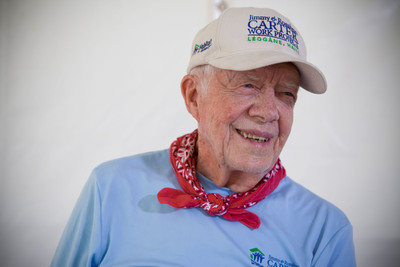 Former U.S. President Jimmy Carter.  (PRNewsFoto/Habitat for Humanity International)