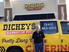 Owner/Operator Dennis Farmer poses in front of the newest Dickey's Barbecue Pit in North Myrtle Beach, opening Thursday.