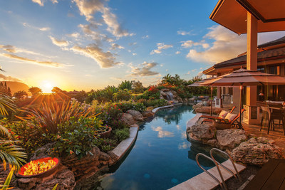 """This Hawaiian estate on the island of Kauai was sold at a live auction on July 23, 2016 by Platinum Luxury Auctions. The property was awarded HGTV's """"Favorite Backyard Retreat,"""" as part of the network's Ultimate House Hunt contest in 2015. Hawai'i Life Real Estate Brokers was the brokerage of record for the sale. Additional details at HILuxuryAuction.com."""