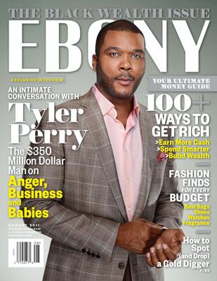 EBONY August 2011, Tyler Perry, Black Wealth Issue.  (PRNewsFoto/EBONY)