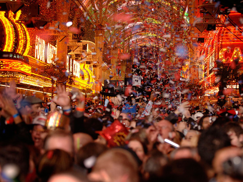 Rock in the new year with Fremont Street Experience's Downtown Countdown New Year's Eve 2013 celebration in Las Vegas - Monday, Dec. 31 from 6 p.m. to 3 a.m.  (PRNewsFoto/Fremont Street Experience)