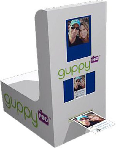 guppyPOD(TM), photo booth kiosk from Catch the Moment, perfect for experiential event photo activation marketing.  (PRNewsFoto/Catch the Moment)