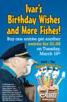 Ivar's Birthday Offer (March 19, 2013).  (PRNewsFoto/Ivar's Seafood Restaurants)