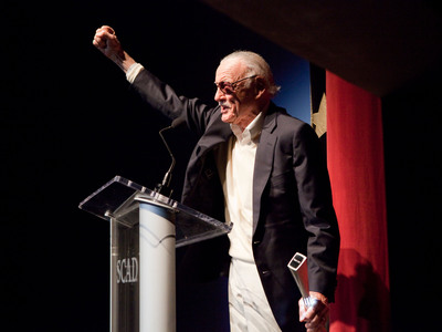 Comic book legend Stan Lee accepts the Lifetime Achievement Award at the 15th annual Savannah Film Festival, presented by SCAD.