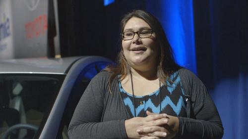 2014 National Council of La Raza Conference: Audrey Moscosa-Rodriguez from Savannah, Ga, wins a new Prius at ...