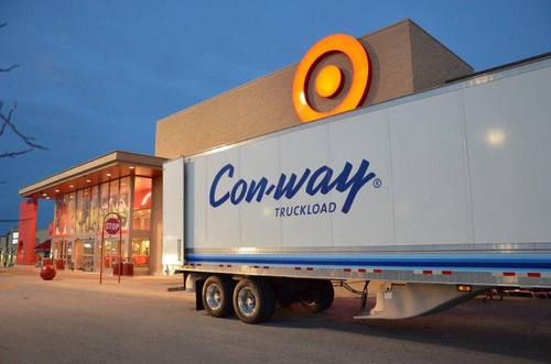 More than $50,000 Raised by Con-way Truckload for 20th Annual Truckloads of Treasures Holiday Giving Campaign. (PRNewsFoto/Con-way Truckload) (PRNewsFoto/CON-WAY TRUCKLOAD)