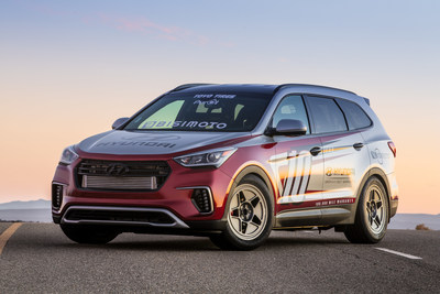 "HYUNDAI JOINS FORCES WITH BISIMOTO TO DEVELOP ""SANTA-FAST"" 1,075 HORSEPOWER REAR-DRIVE SANTA FE SUV FOR 2016 SEMA SHOW"