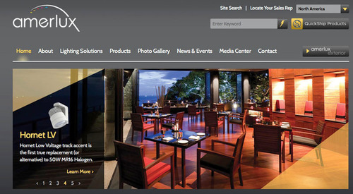 Amerlux Launches New User Friendly Website Featuring a Clean Look, Advanced Functionality,