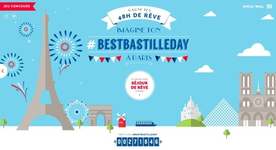 Win your 48 dream hours in Paris for Bastille Day!