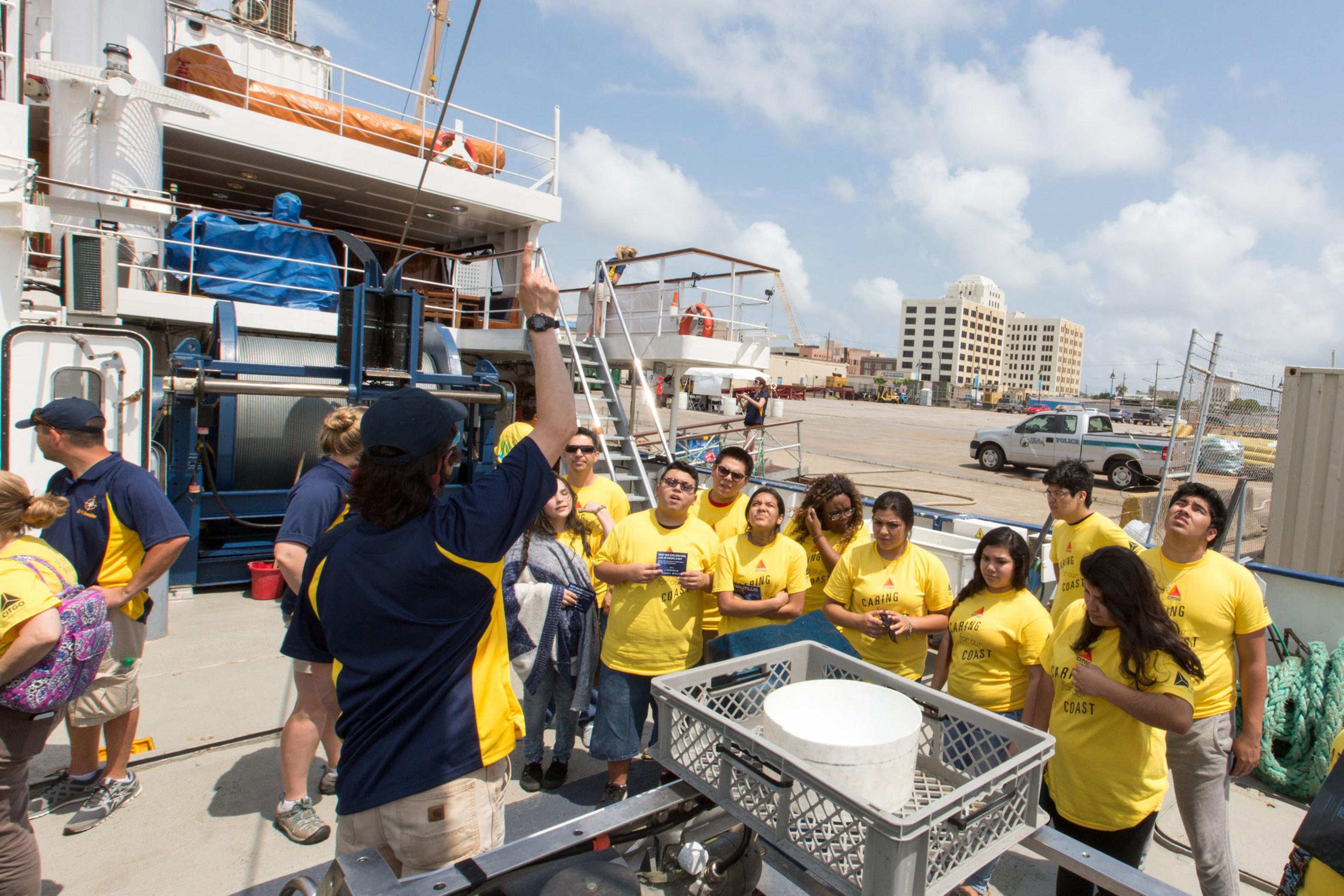 Ocean Exploration Trust conducts ship tours sponsored by CITGO onboard Exploration Vessel Nautilus