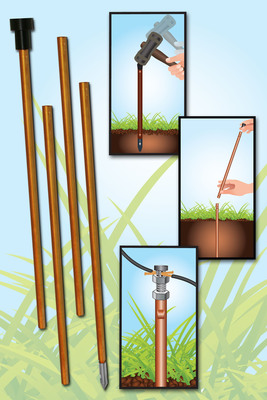 Zareba Systems' New Sectional Copper Ground Rod Kit Simplifies Installation