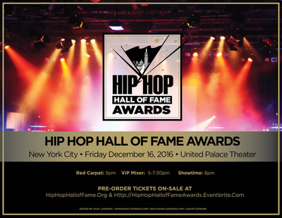 Hip Hop Hall of Fame Awards TV Show in NYC Benefiting The Hip Hop Hall of Fame + Museum Coming to Manhattan, NYC!