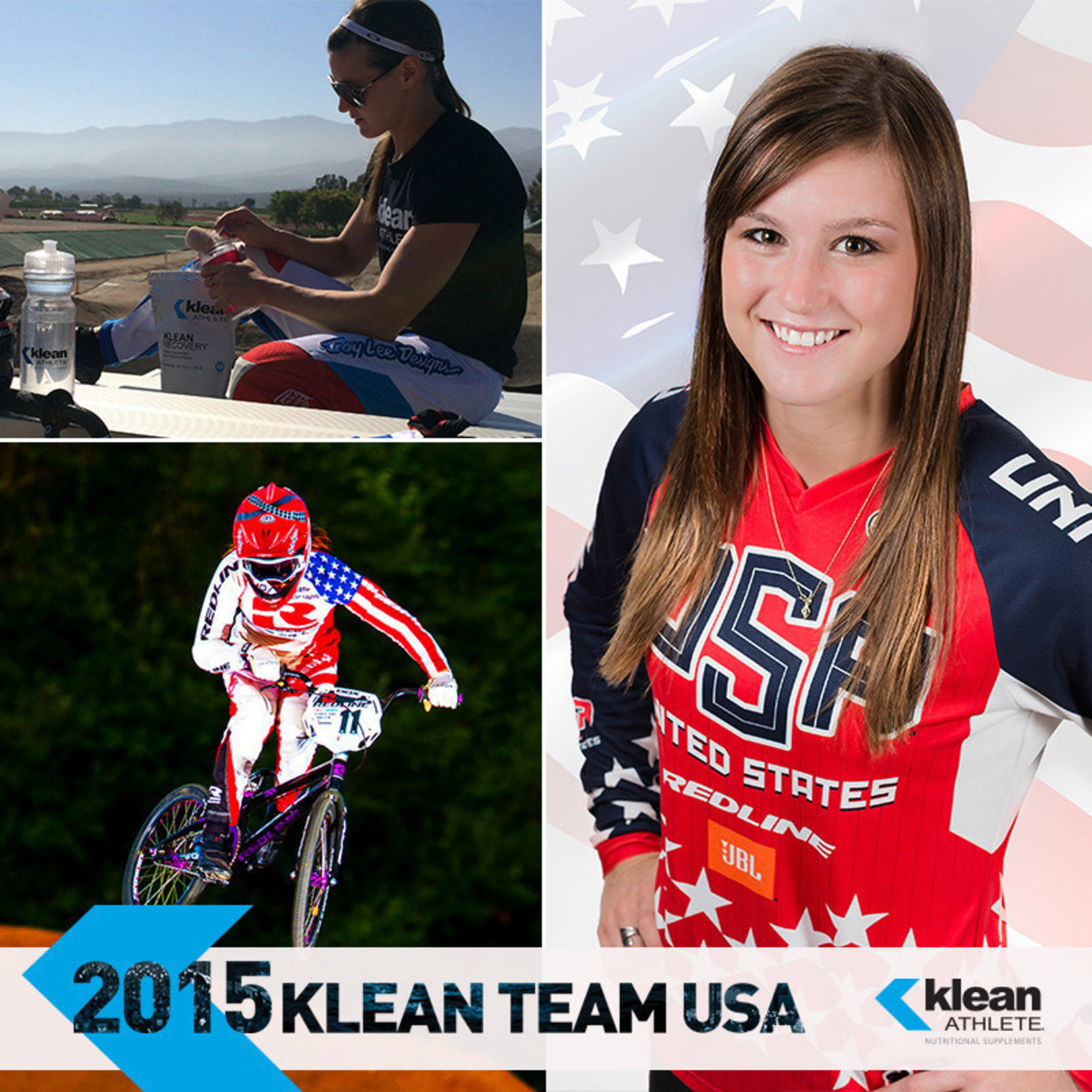 BMX Pro Alise Post Joins the 2015 Klean Team USA, sponsored by Klean Athlete. Learn more at www.kleanathlete.com