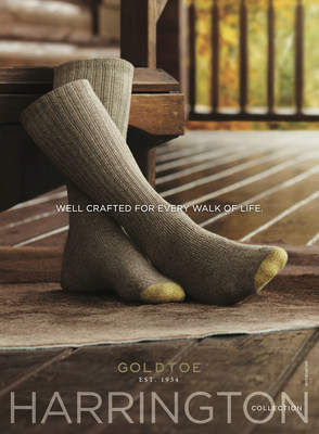 Iconic sock brand, GOLDTOE(R), launches new men's casual sock line featuring a younger design with unmatched quality.