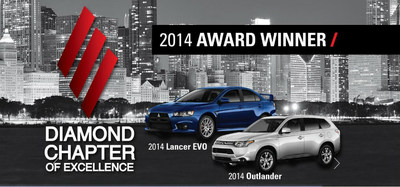 Continental Mitsubishi is a Diamond Chapter of Excellence winner for 2014. (PRNewsFoto/Continental Mitsubishi)