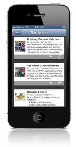Curata users can review and sift through content from their iPhone, iPad and Android devices.  (PRNewsFoto/Curata, Inc.)