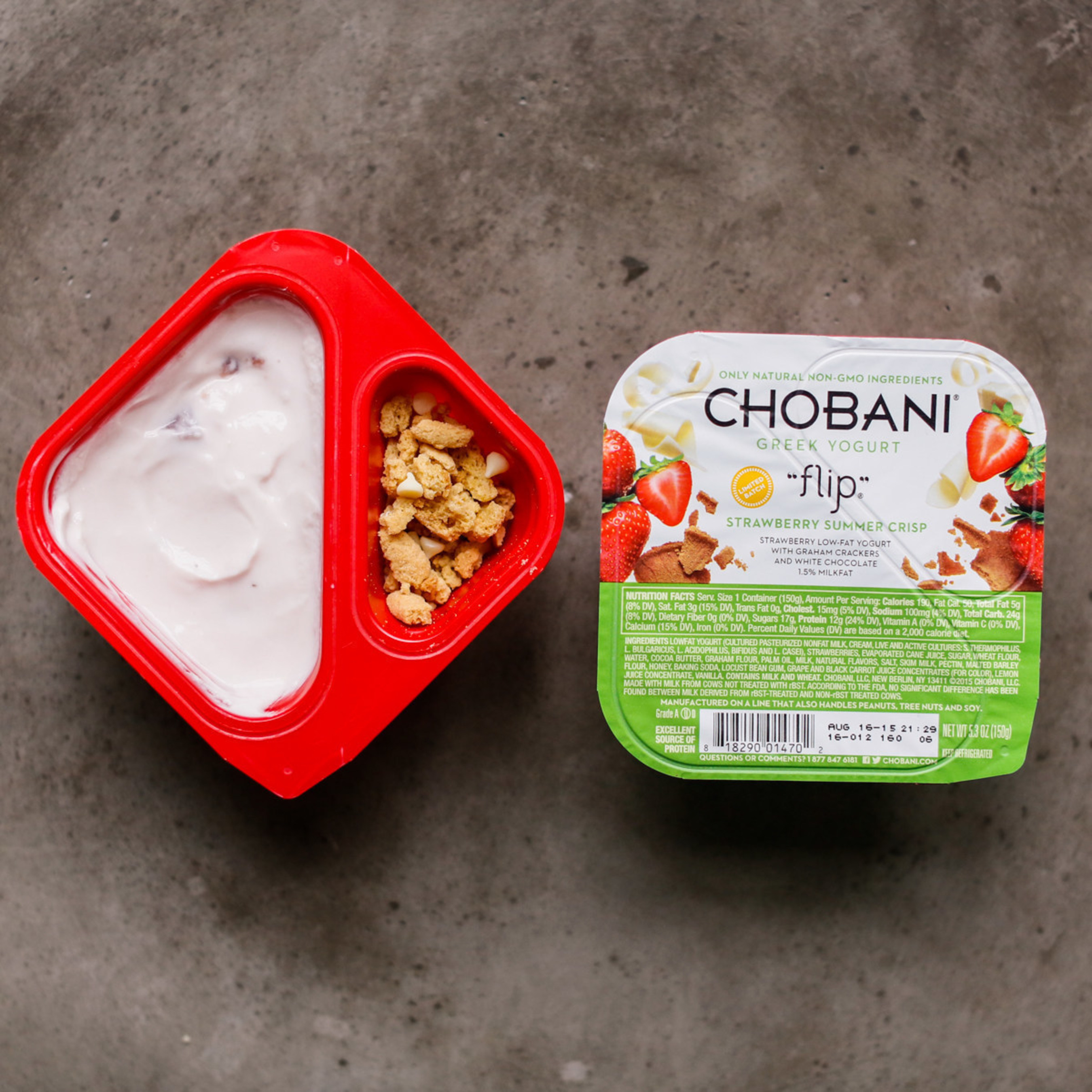 Chobani Limited Batch Strawberry Summer Crisp is the perfect taste of the season with creamy Greek Yogurt and real, delicious, natural ingredients to mix in!