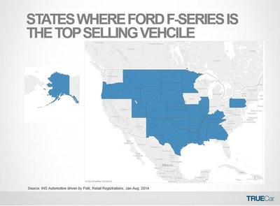 States Where Ford F-Series is the Top Selling Vehicle