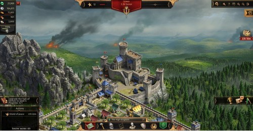 Legends of Honor is a free-to-play building and strategy MMO browser game. Players collect resources, constantly upgrade their fortresses, and expand their rule in a medieval setting. The game's key components include fighting for the honor of your own faction and exploring the interactive world map, where your heroes are able to move about freely and fight in tactical battles (PRNewsFoto/Goodgame Studios) (PRNewsFoto/Goodgame Studios)