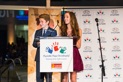 National Youth Ambassadors, Ryan Darby and Hannah Adams, Address the Celebration of Life Gala