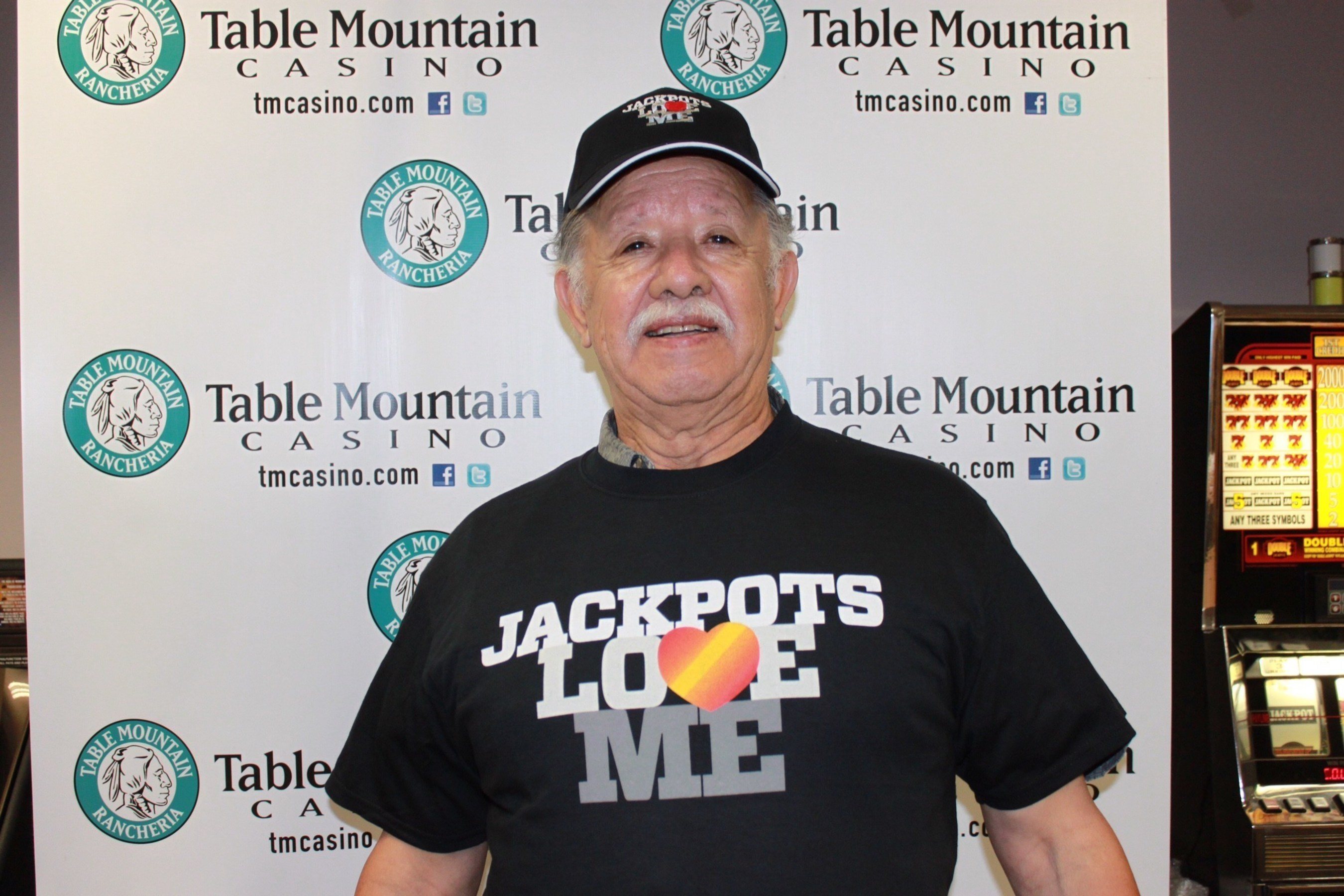 Another Lucky Massive Cash Jackpot winner at Table Mountain Casino!  Photo Credit: Table Mountain Casino