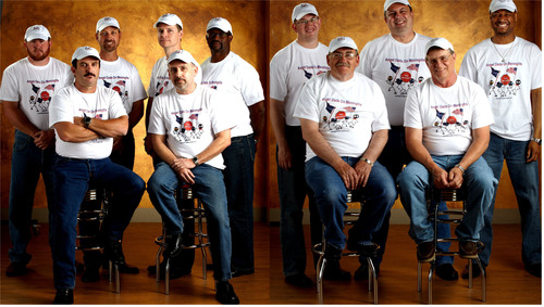 Angel Dads L-R ~ Chris Boone, Greg Bean, John Krizman, Jeff Dowdy, Jody Meigs, Greg Williams, Joseph Stanton, Randy Menard, Peter Somerville, Bob Milley, and Alan Lewis.  (PRNewsFoto/Meningitis Angels)