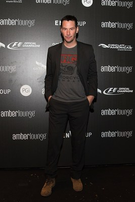 Keanu Reeves celebrates F1 at the Original F1 After-Party hosted by G.H.MUMM at Amber Lounge in Austin, TX. Photo Credit: Getty Image for G.H.MUMM