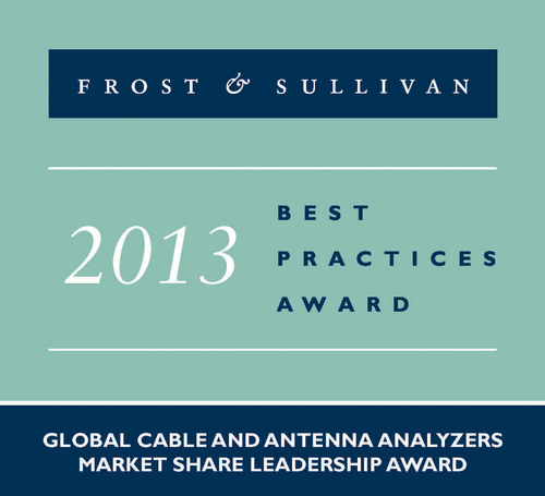 Frost & Sullivan Presented Anritsu with Global Market Share Leadership Award in Cable and Antenna Analyzers.  (PRNewsFoto/Anritsu)