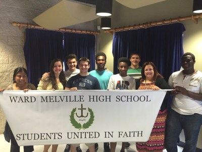Today Students at Ward Melville High School Enjoy Happy Ending As School Officials Concede and Officially Approve Their Religious Club, Students United In Faith (PRNewsFoto/Liberty Institute)