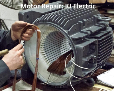 Reliable repair specifications help to ensure that a motor is repaired successfully and to its maximum energy efficiency. Pictured is a motor being repaired.
