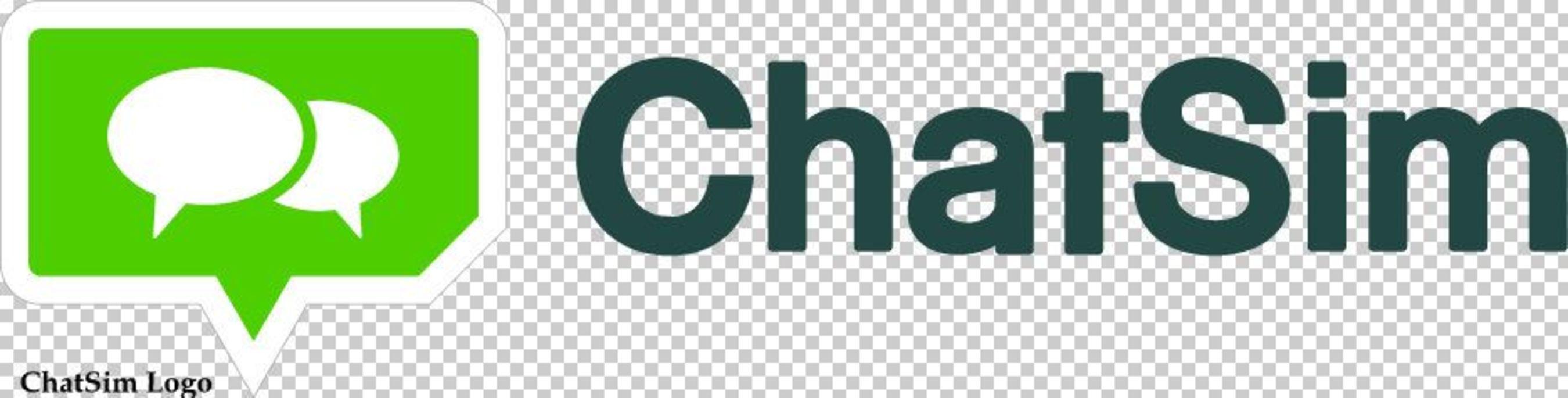 ChatSim Logo (PRNewsFoto/Zeromobile and ChatSim)