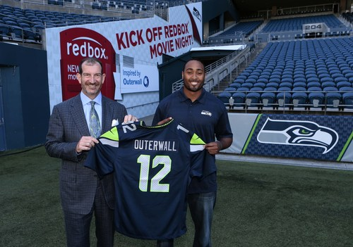 Seattle Seahawks and Outerwall Announce Charitable Partnership (PRNewsFoto/Outerwall Inc.)
