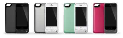 OtterBox Resurgence Power Case comes in four color options: satin rose, teal shimmer, glacier and black.