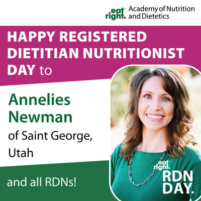 The Academy of Nutrition and Dietetics is honored to take time during National Nutrition Month to celebrate Registered Dietitian Nutritionist Day and recognize the experts who have dedicated their professional lives to helping people improve their health through food and nutrition. Find an RDN near you at www.eatright.org.