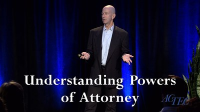 """Understanding Power of Attorney"" presented by ACTEC Fellow Bernard Krooks J.D., CPA, LLM (in taxation)"