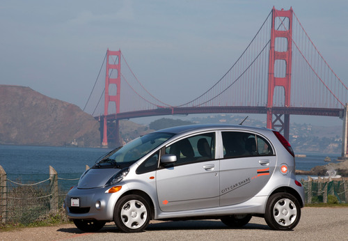 Mitsubishi Motors makes first fleet delivery of 2012 Mitsubishi i to City CarShare.  (PRNewsFoto/Mitsubishi ...