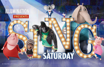 "ILLUMINATION ENTERTAINMENT, UNIVERSAL PICTURES AND AMC THEATRES(R) ANNOUNCE THANKSGIVING WEEKEND'S FREE ""SING SATURDAY"""