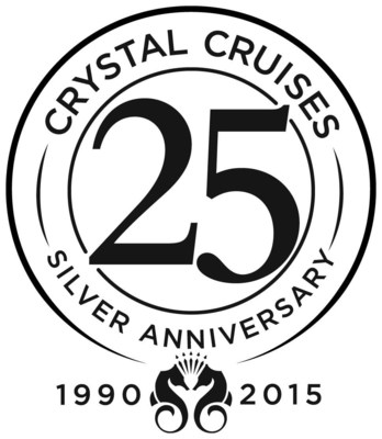 Crystal Cruises will be celebrating 25 years of sailing in 2015 with multiple theme cruises bringing back former Crystal captains, as well as current top executives.