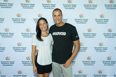 Cristen and Nigel Barker, co-chairs of the Elizabeth Glaser Pediatric AIDS Foundation Kids 4 Kids family festival held on Sept. 27 at Chelsea Piers in New York City. (PRNewsFoto/Elizabeth Glaser Pediatric AIDS)