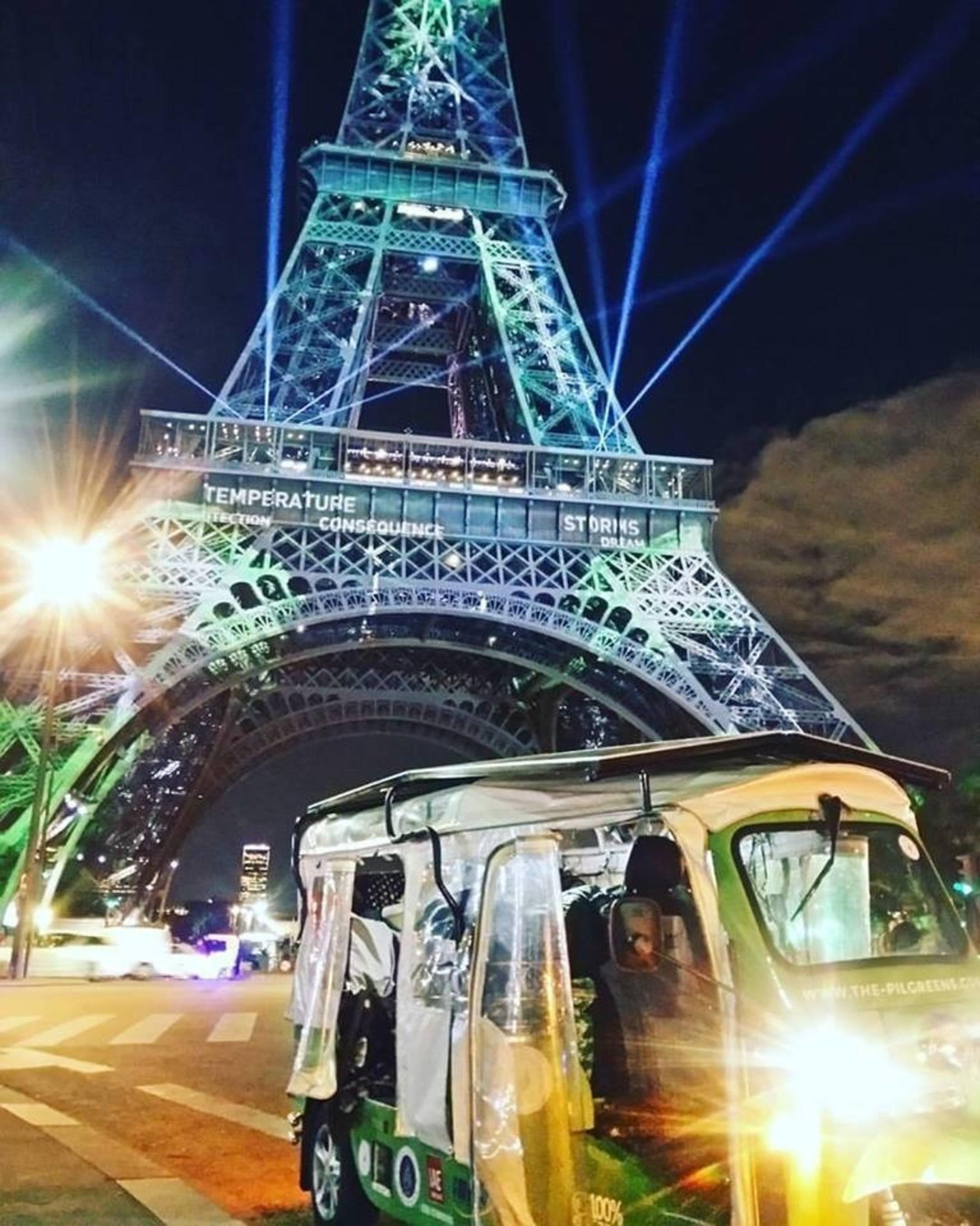 Electric Tuk Tuk Reaches Paris Climate Conference After a 20.000 Kilometer Journey
