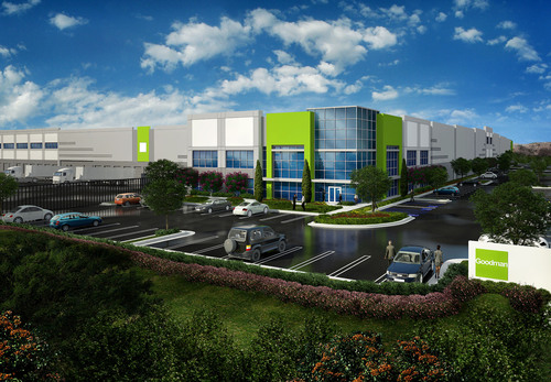 Artist's impression - Goodman Logistics Center Rancho Cucamonga, CA (PRNewsFoto/Goodman Group)