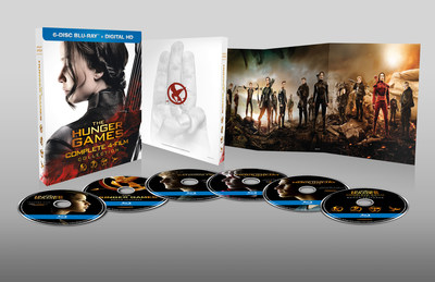 The Hunger Games complete four film collection Blu-ray beauty shot