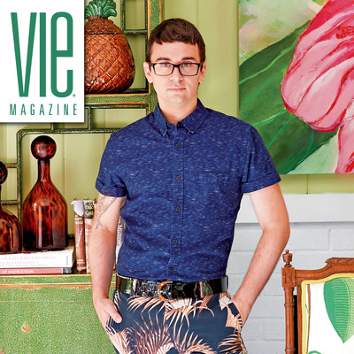 Fashion designer Christian Siriano adorns VIE 2016 Home & Decor Issue cover with feature story at his colorful country home. See more and subscribe now at VIEmagazine.com. Photo by William Waldron.