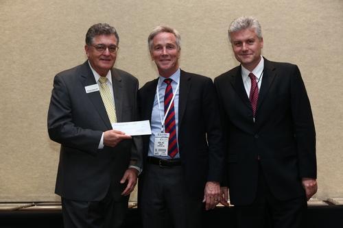 Dr. Richard Memo, Chair of Urology Care Foundation Board of Directors (left), Dr. Sanford Siegel, President and  ...