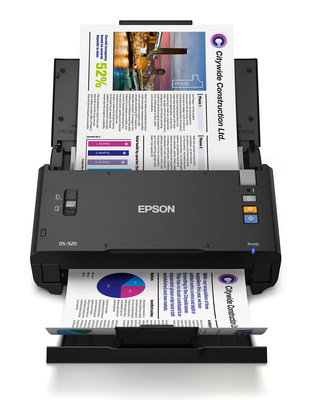 The WorkForce DS-520 sheet-fed scanner is the latest addition to Epson's lineup of professional-grade scanning solutions