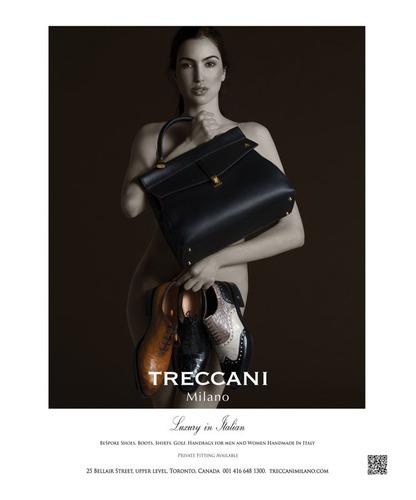 Treccani Milano ad in Ritz Carlton Magazine.  (PRNewsFoto/Treccani Milano)